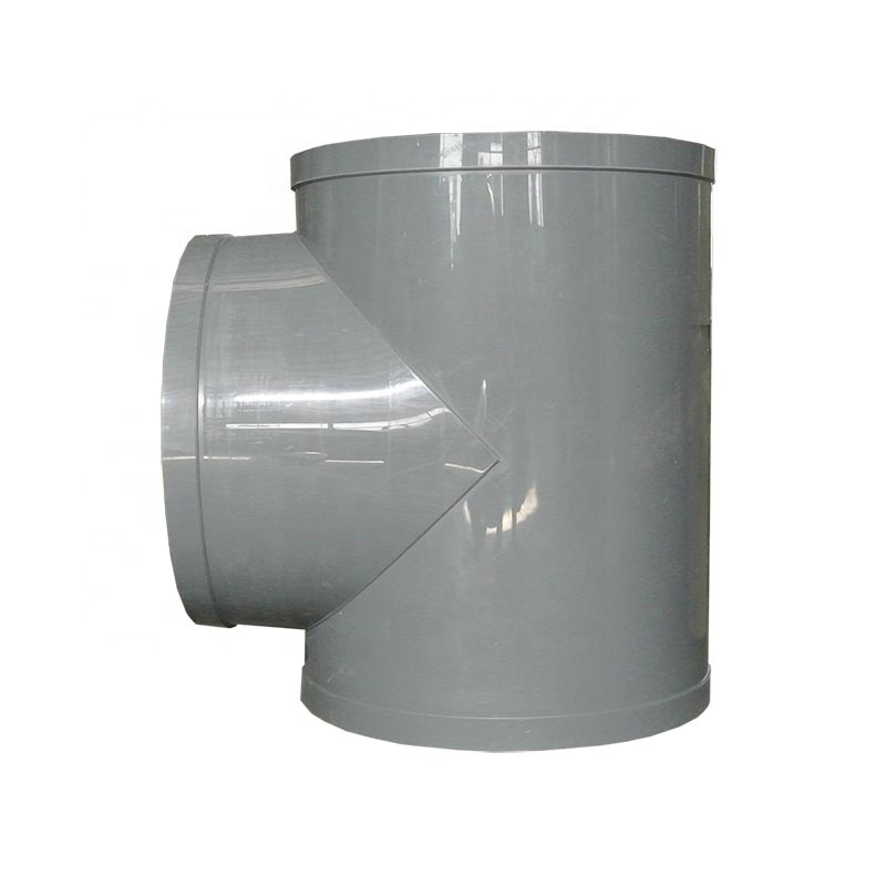 Grey/Beige y tee pipe fitting connector for pipe joints