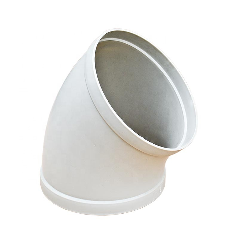 Anti-corrosive Ventilation Duct Fittings 45 degree & 90 degree Plastic Elbow