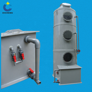 industrial exhaust gas treatment equipment odor removal system wet gas scrubber
