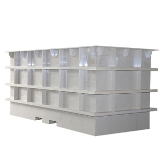 Polypropylene Material lab Electroplating tank for wire rode cleaning