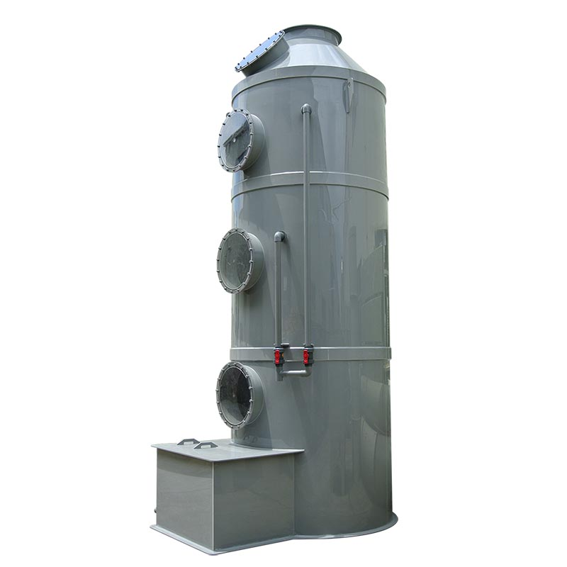Air Pollution Treatment Processing Plastic Polypropylene Material Vertical Wet Scrubber